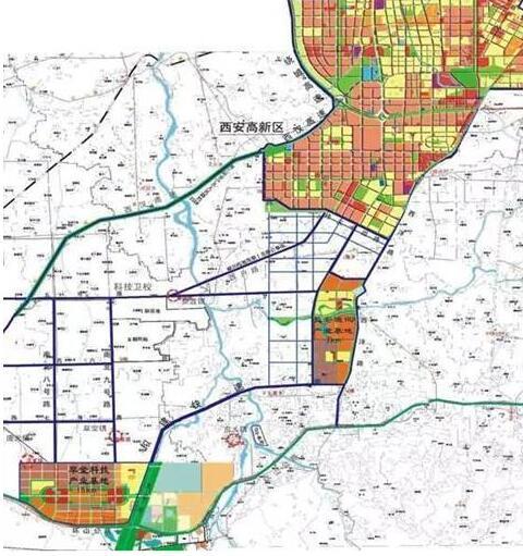 西安高新区发展规划图