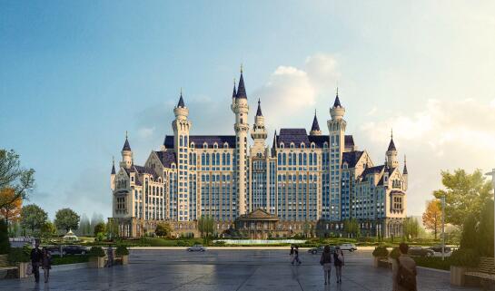 欧式城堡酒店效果图