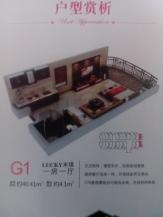 1室1厅0卫 户型图