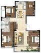 绿城西安全运村135平小高层4室2厅2卫135.00㎡