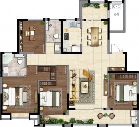 1室1厅1卫 户型图