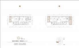 2室4厅2卫 户型图